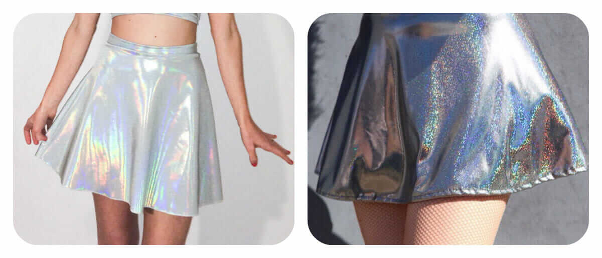 Cheap holographic skirts