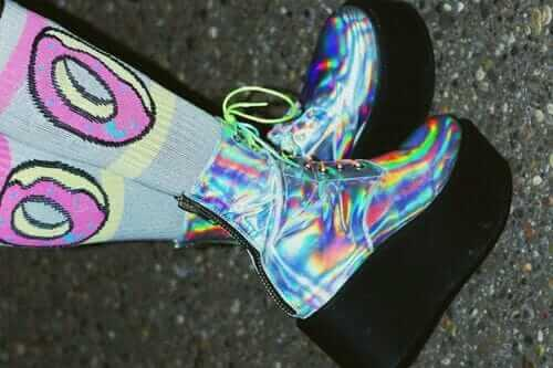 Seapunk Holographic Boots