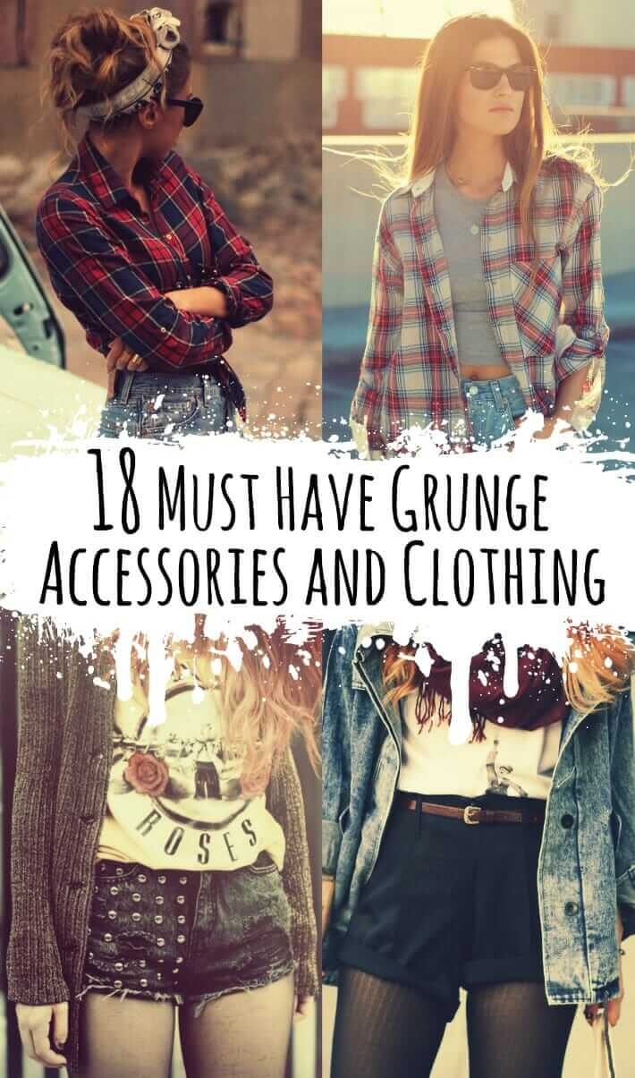 18 Must Have Grunge Accessories and Clothing - https://ninjacosmico.com/18-must-have-grunge-accessories-clothing/