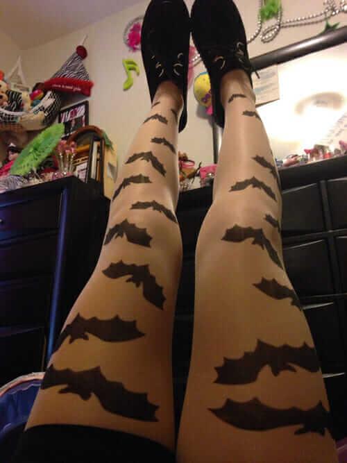 Bat Leggings With Creepers