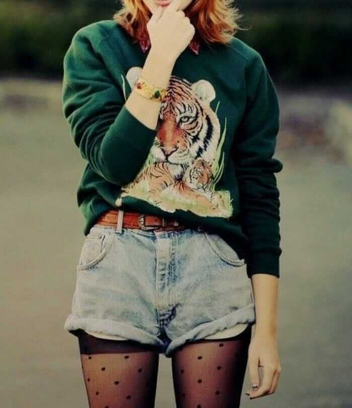 Blue Denim Grunge Shorts