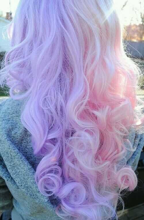 Curly Pastel Pink and Purple Hairstyle