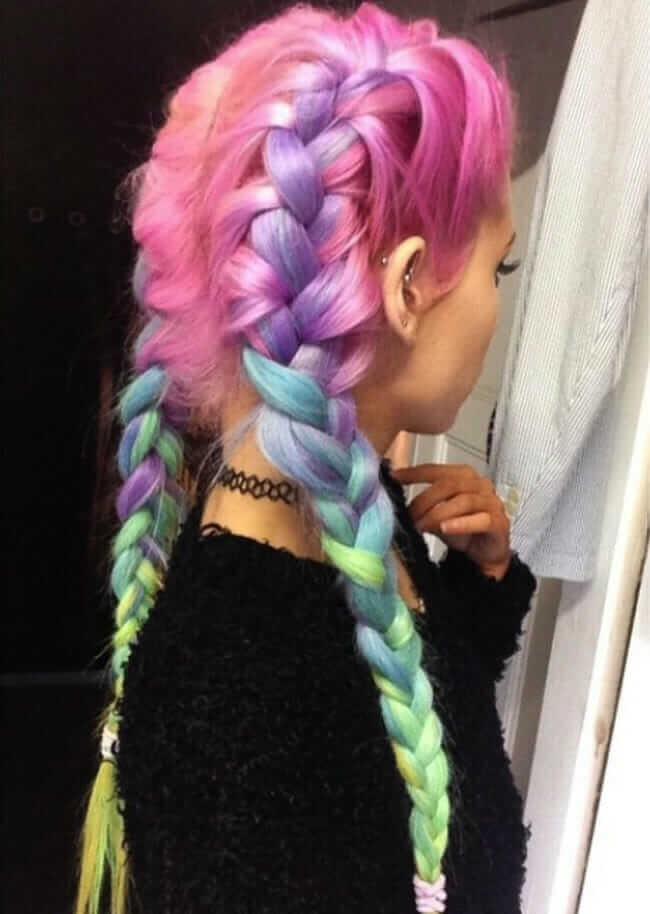 Dyed Cotton Candy Pastel Hairstyle