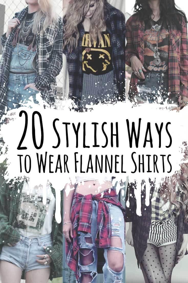 6e08cd61961a 20 Stylish Ways to War Flannel Shirts - https   ninjacosmico.com