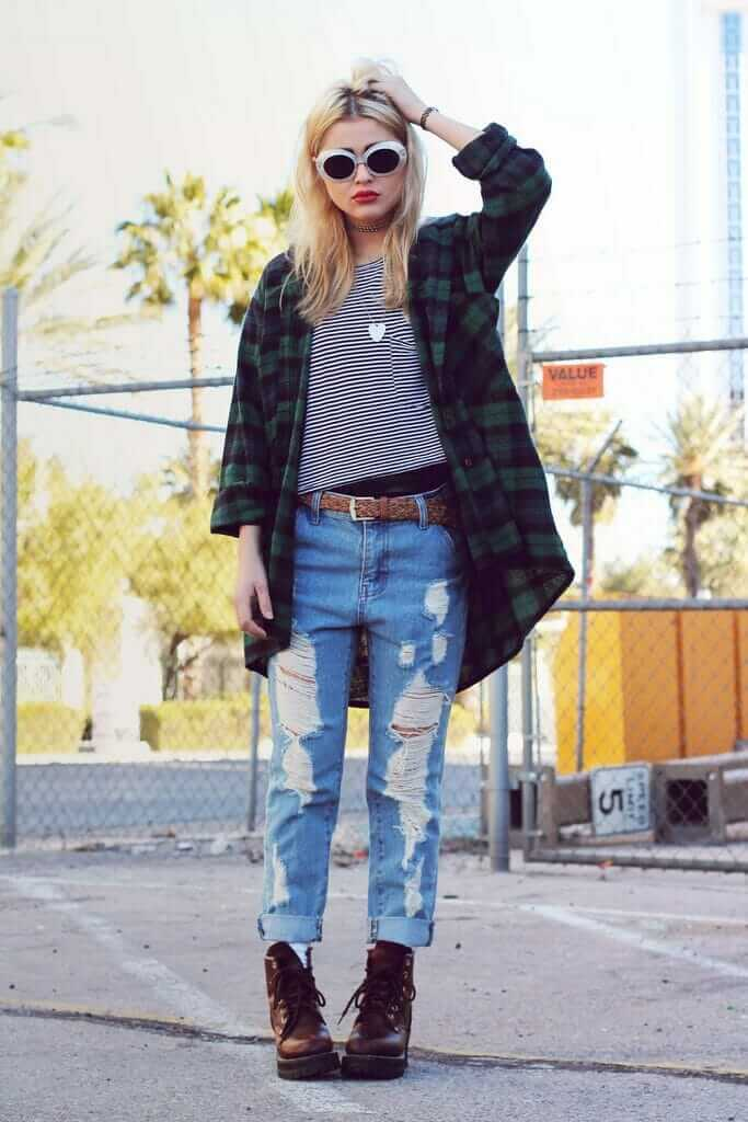 20 stylish ways to wear flannel shirts page 5 of 6