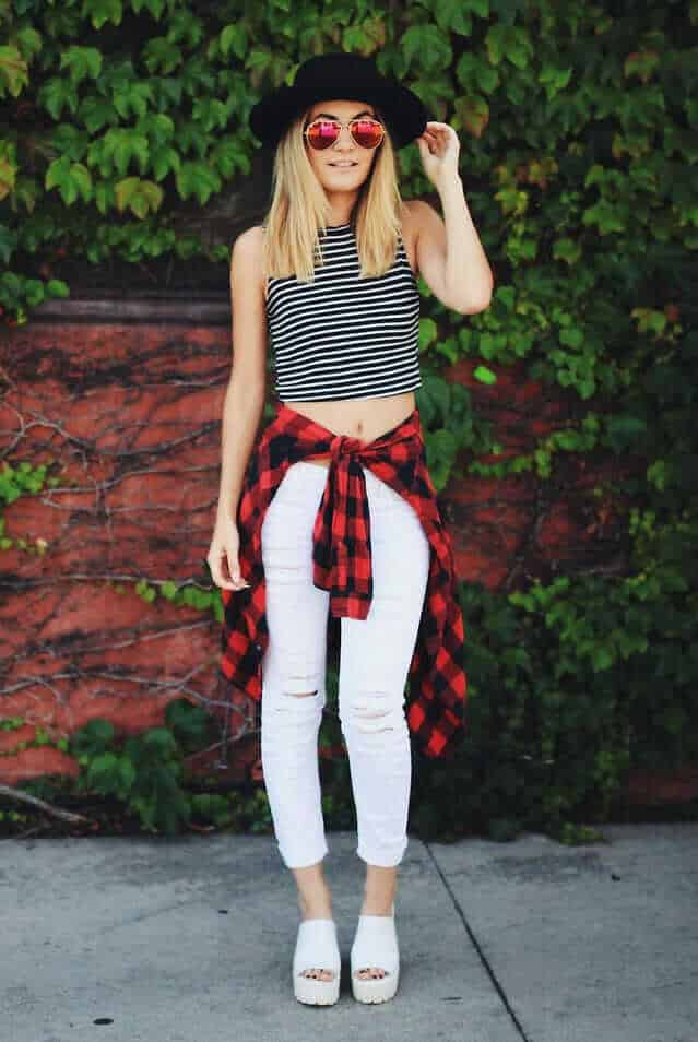 20 stylish ways to wear flannel shirts page 3 of 6