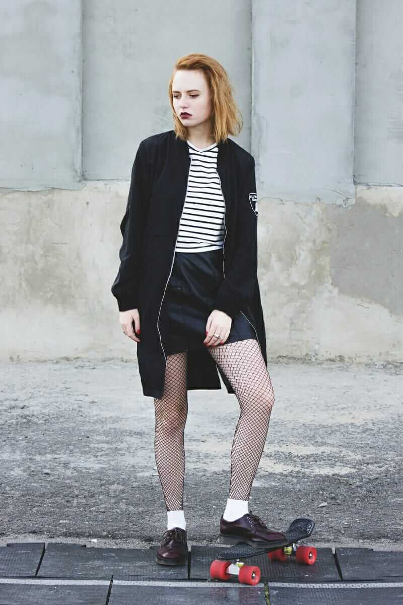 Striped Long Sleeve T-Shirt with Coat