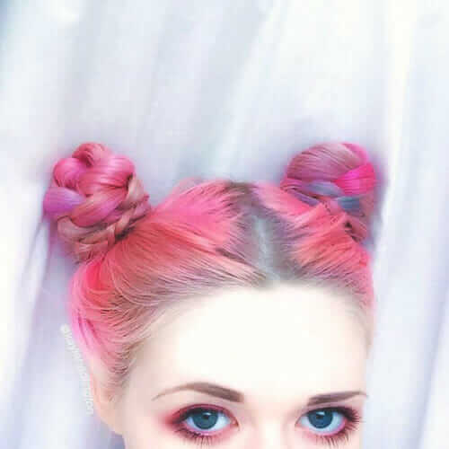 Another Picture of Kayla Hadlington's Pink Hair Hairstyle