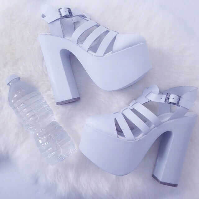 DollsKill Platform Pastel Blue Shoes