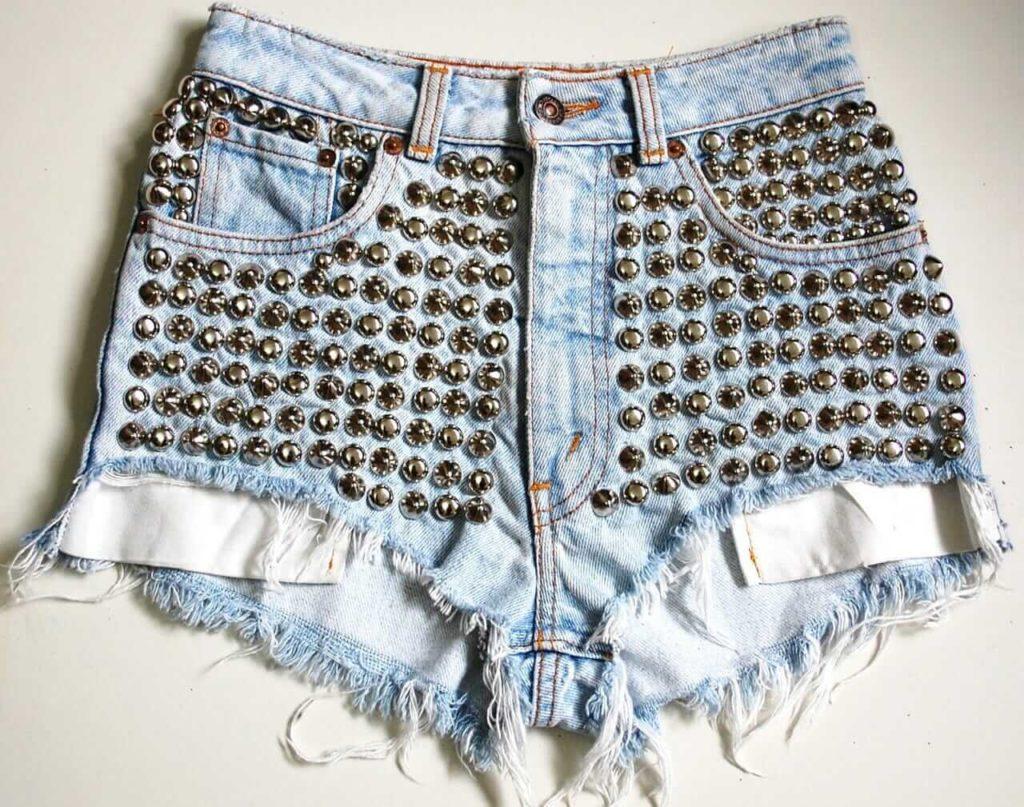 Full Studded Levi's Denim Shorts