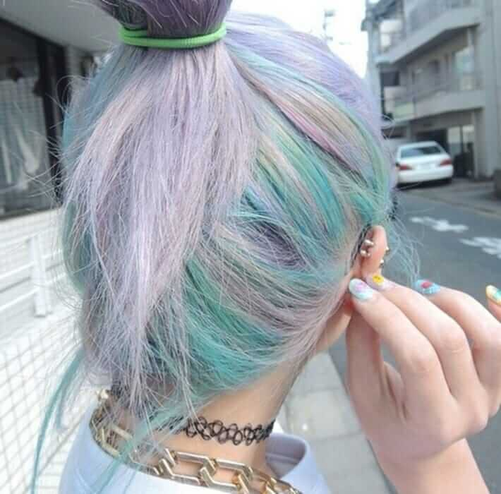 Pastel Grunge Multi Colored Hairstyle