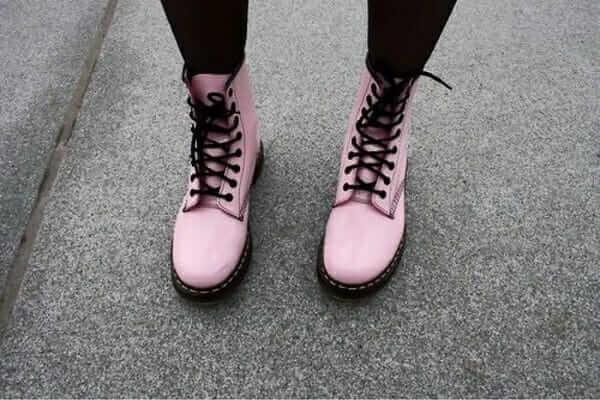 Pink Dr Martens Boots