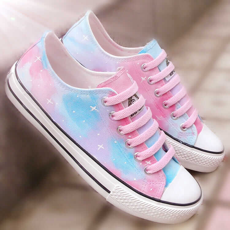 Soft Grunge Star-painted Canvas Converse Shoes