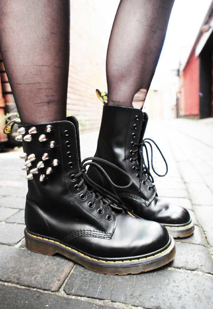 Studded Dr Martens Boots