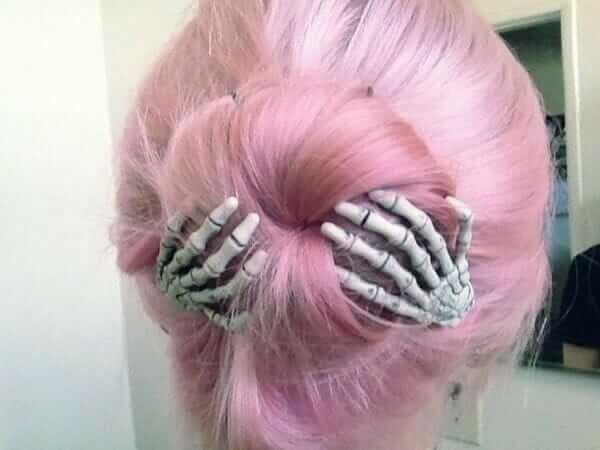 Nu Goth Fashion Tip Number 10 - Skeleton Hair Clips