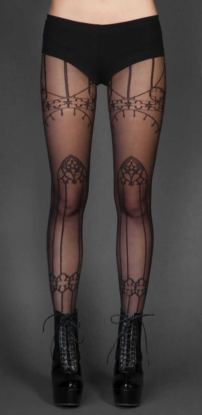 Nu Goth Fashion Tip Nº3: Cathedral Print Pantyhose