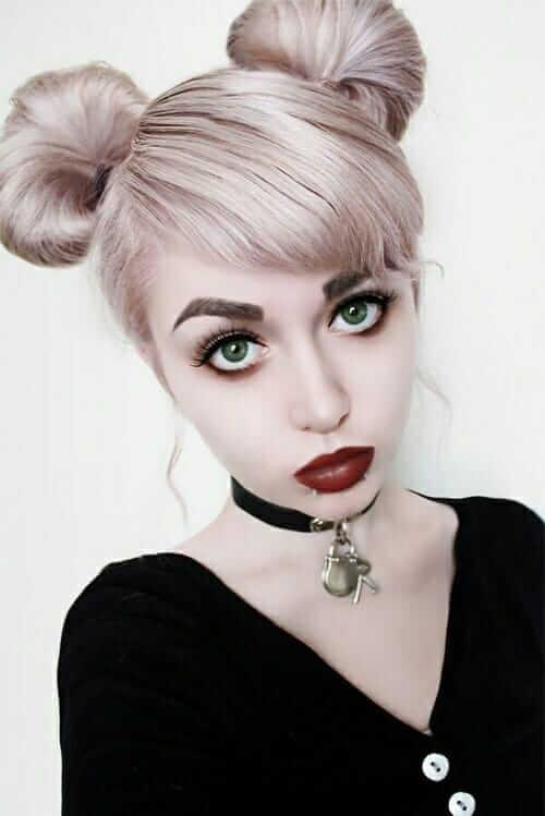 Nu-Goth Fashion Tip Nº 7: Nu-Goth with Pinkish Lavender Bun Dyed Hair