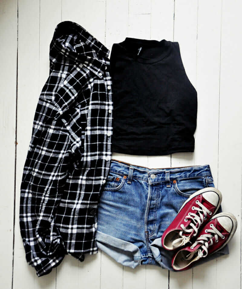 17 hipster outfits to try for this spring page 8 of 18 for Red black and white flannel shirt