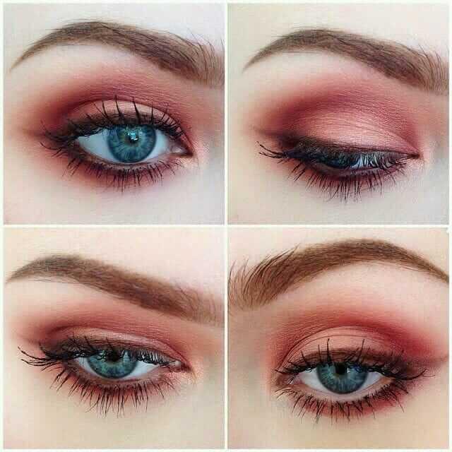 Grunge Makeup Look Idea: Red Eyeshadows