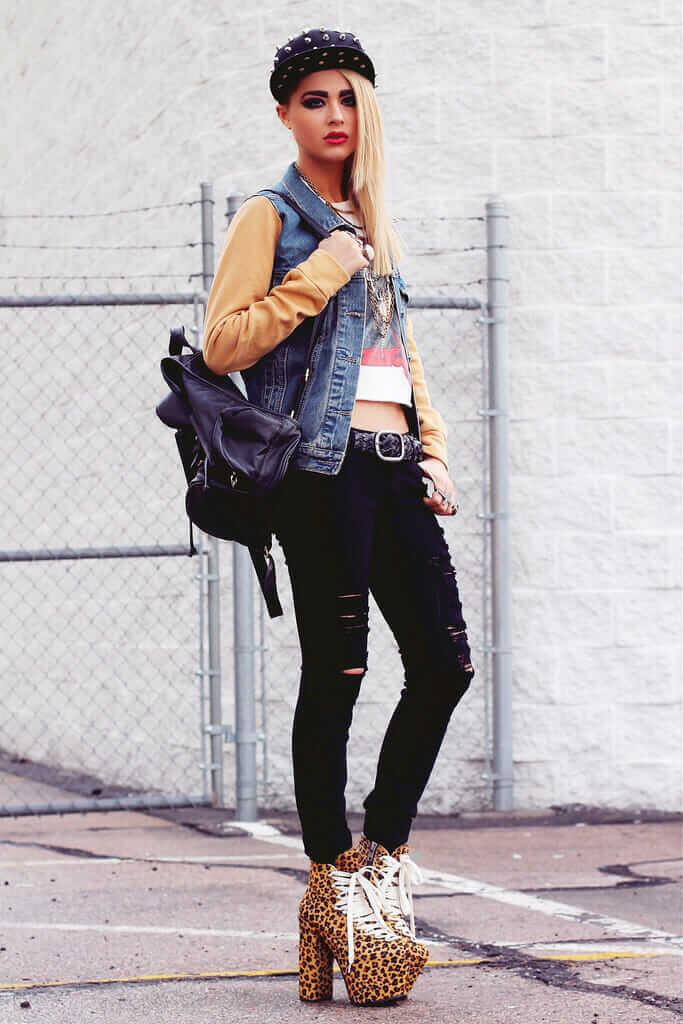 28 Grunge Ways To Wear Denim Jackets Page 12 Of 28