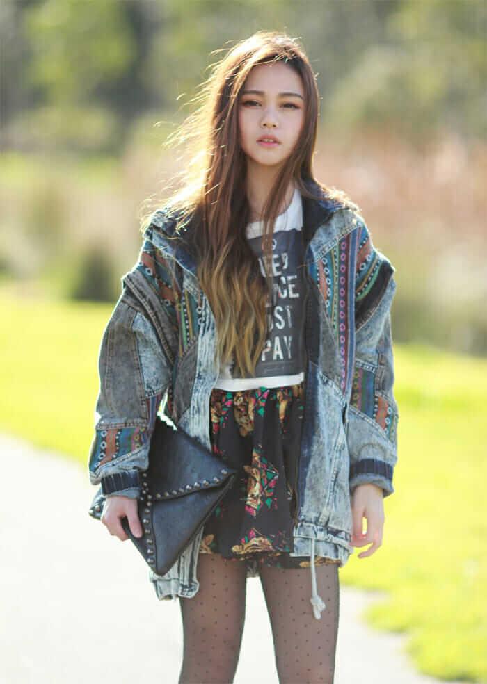28 grunge ways to wear denim jackets page 10 of 28