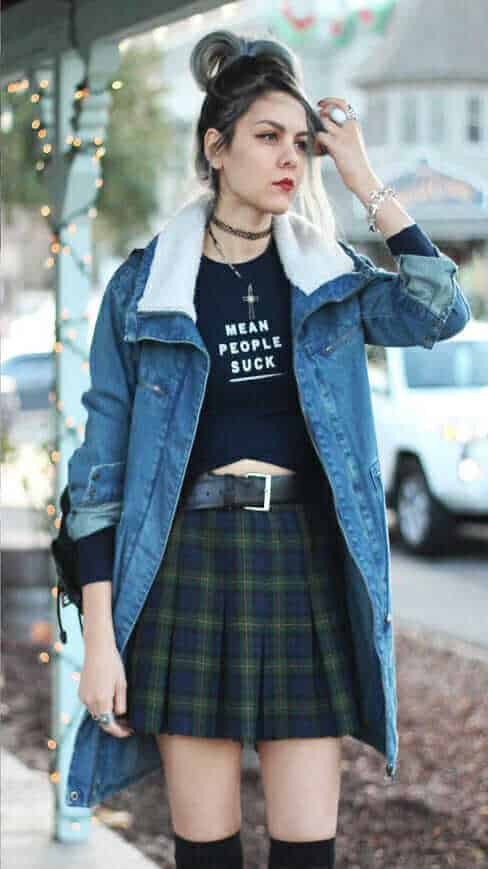 28 Grunge Ways To Wear Denim Jackets Page 2 Of 28