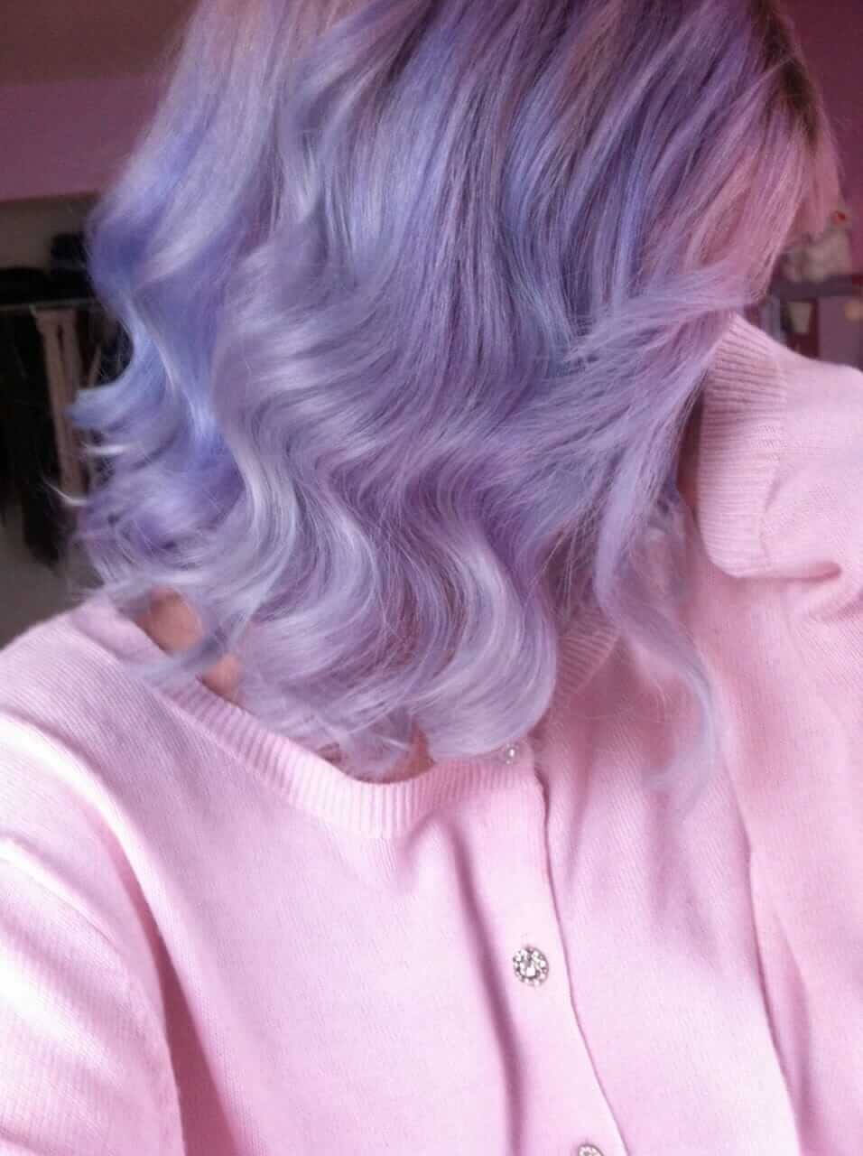 Grunge dyed purple pastel hairstyle