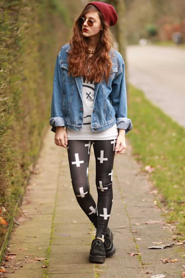28 grunge ways to wear denim jackets - page 21 of 28