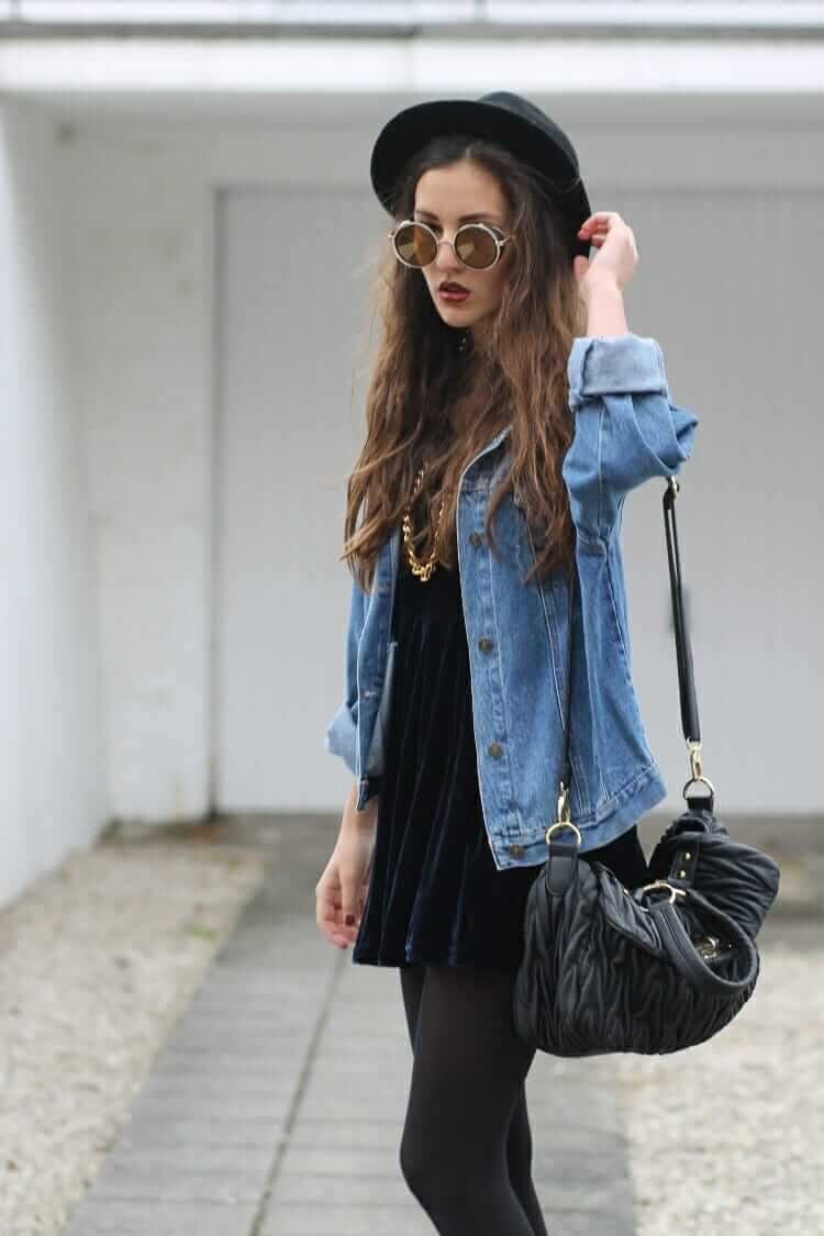 28 Grunge Ways To Wear Denim Jackets Page 24 Of 28