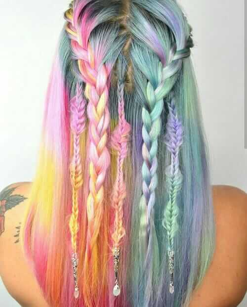28 Rainbow Hair Colors Ideas Ninja Cosmico