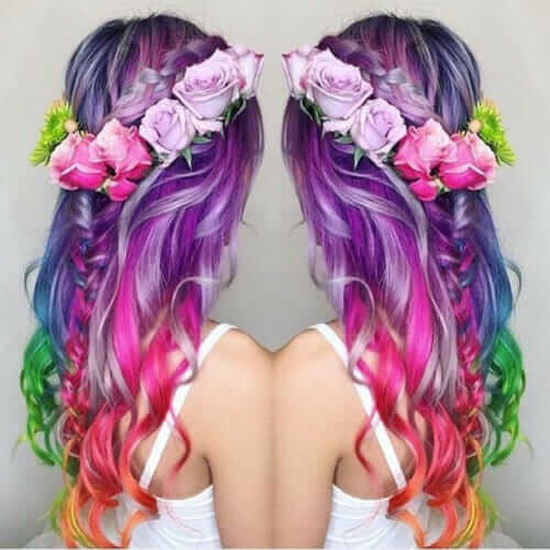 35 Cool Hair Color Ideas To Try In 2016: 28 Rainbow Hair Colors Ideas