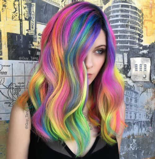 28 Rainbow hair colors ideas - Page 19 of 28 - Ninja Cosmico