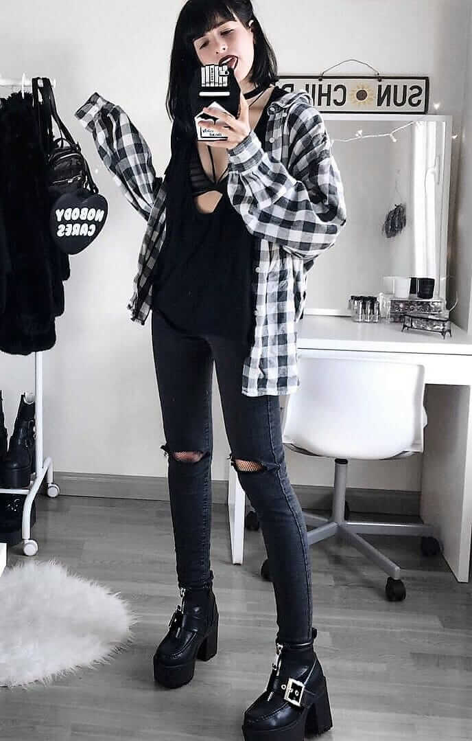 fine dark aesthetic outfits 13