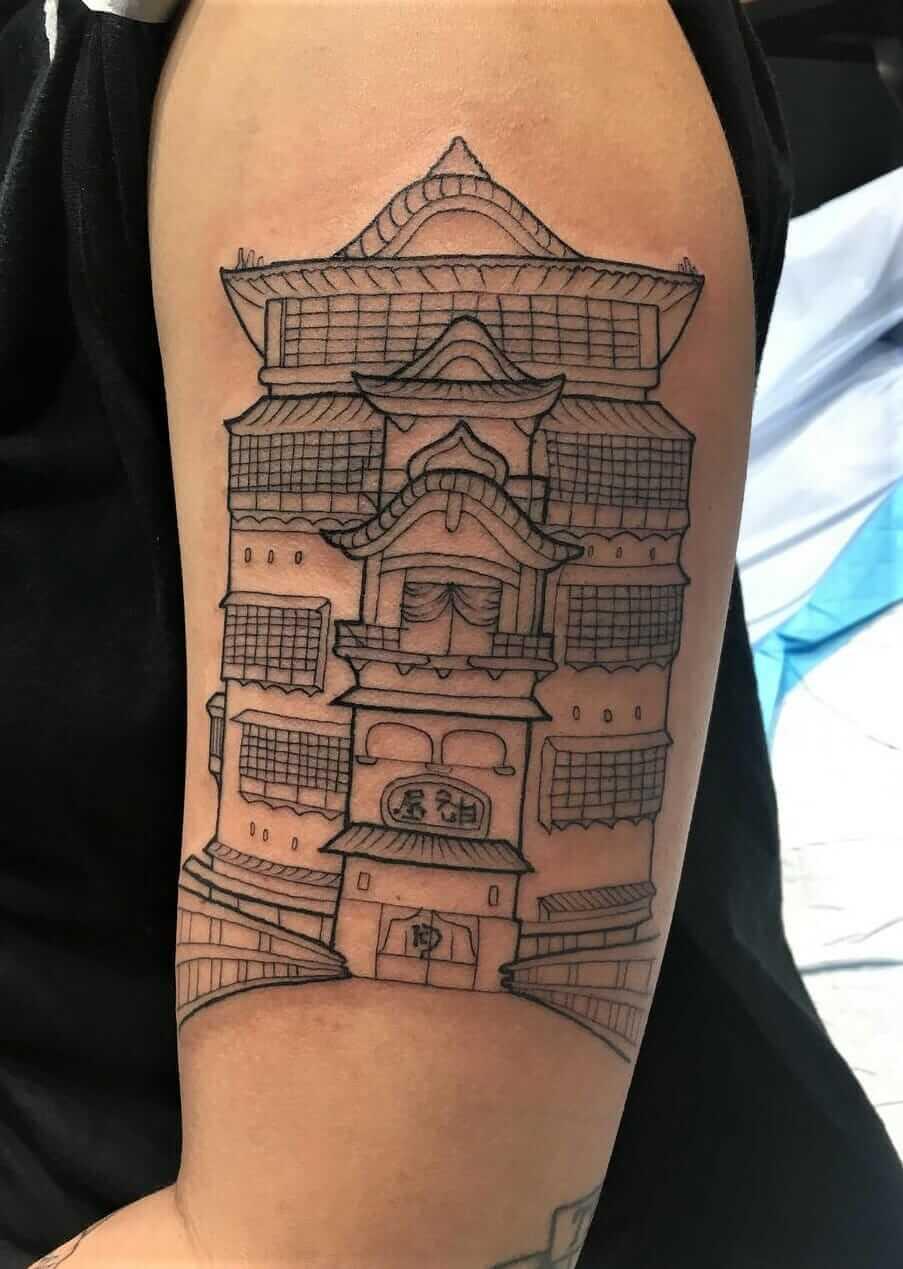 Spirited Away bath house arm tattoo by laurenwinzer