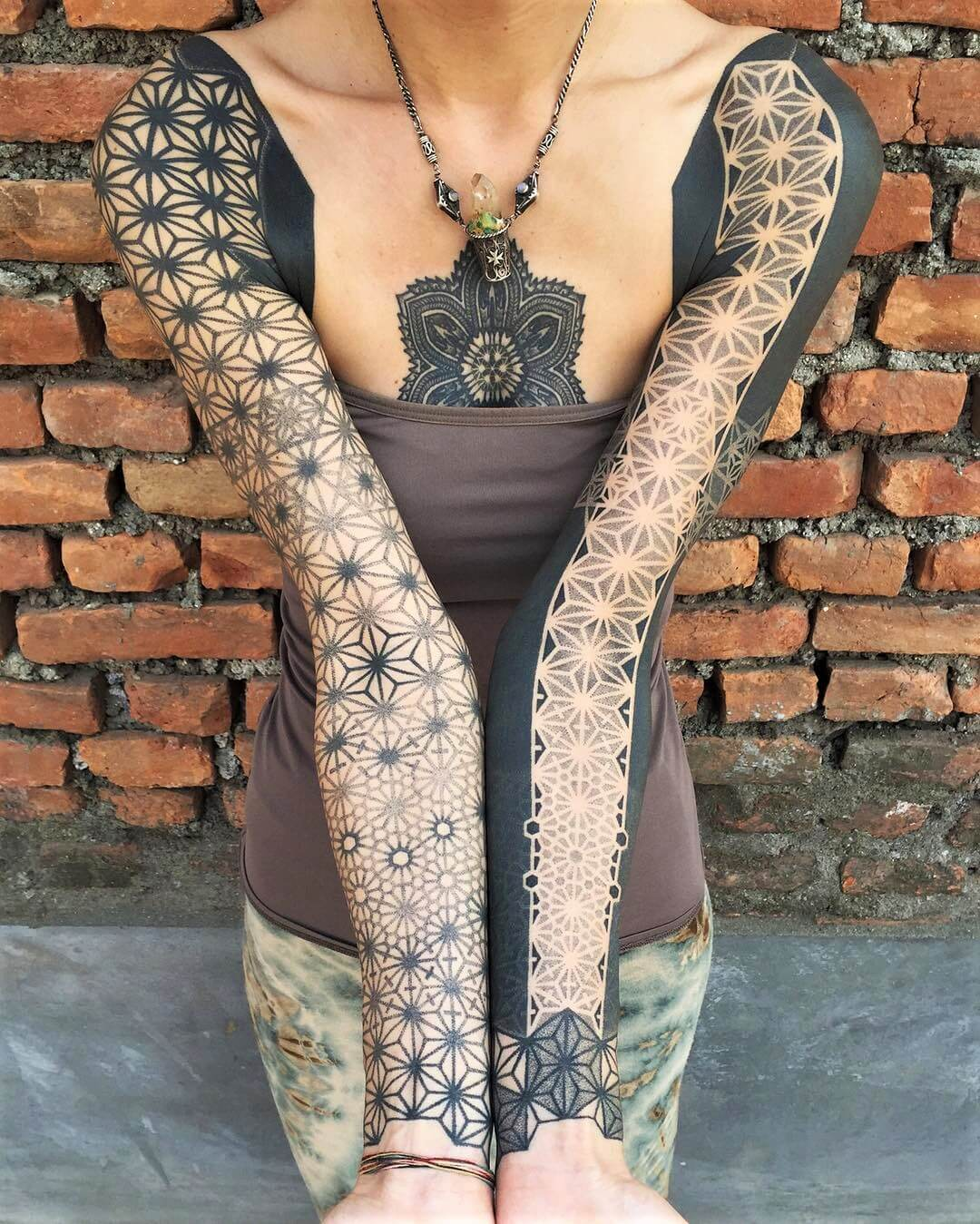 Geometric Flower Tattoo Sleeve: 32 Sleeve Tattoos Ideas For Women