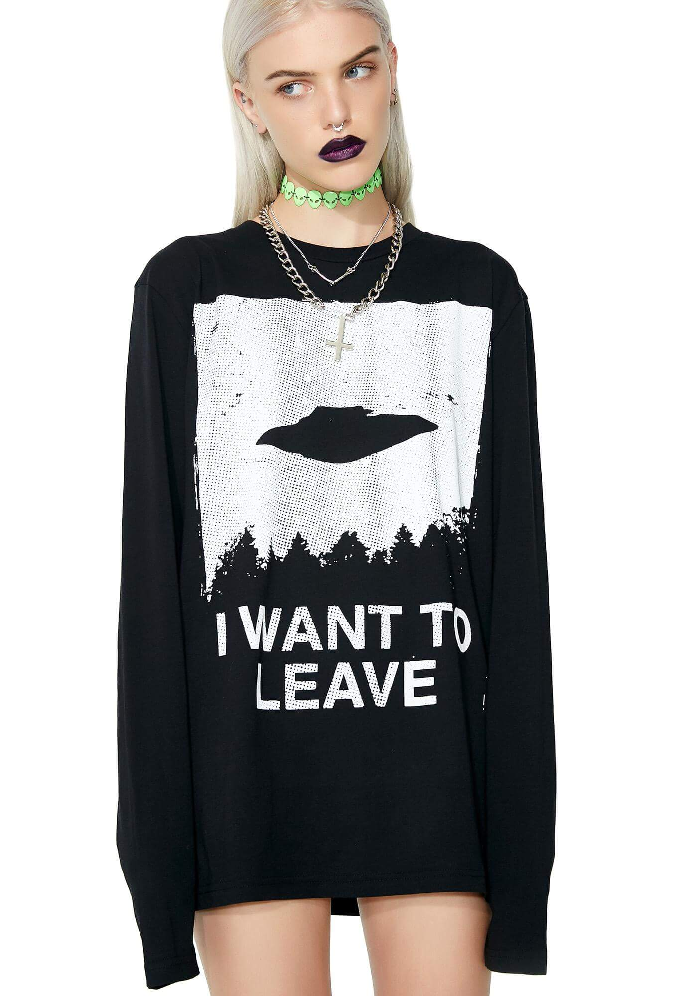 """I Want To Leave"" Long Sleeve Tee"