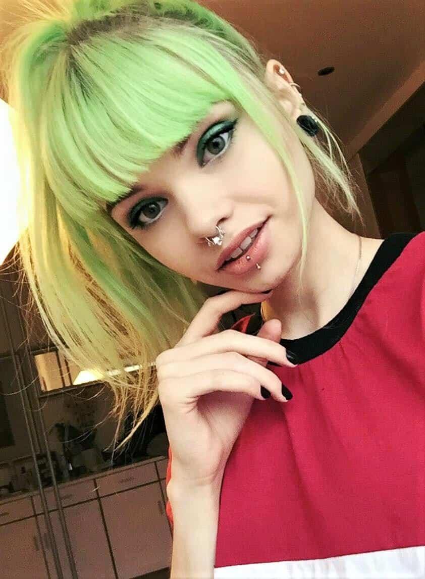 Aurora Green hair dye by lol.ivi
