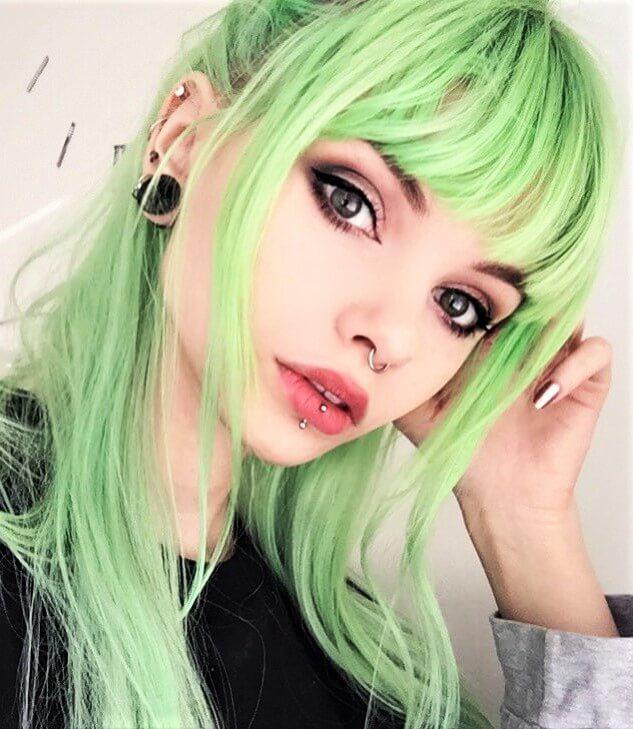 Aurora Green hair dye color by lol.ivi