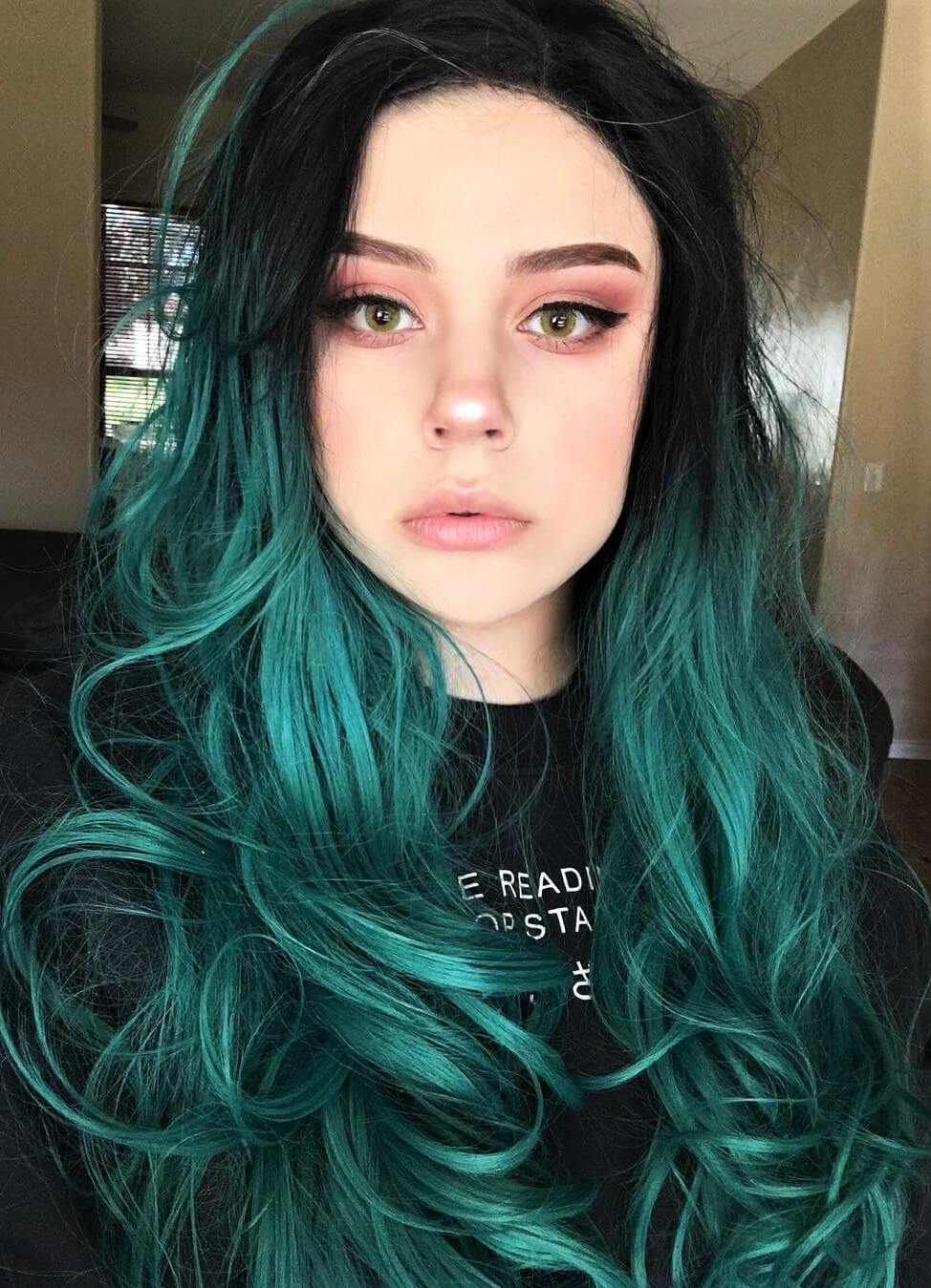 Ombre green wig by l.ucix