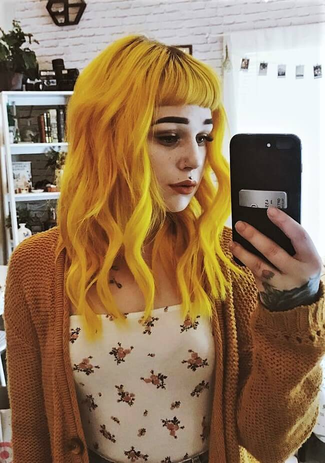 Cosmic Sunshine yellow hair dye by phoenix_hayley
