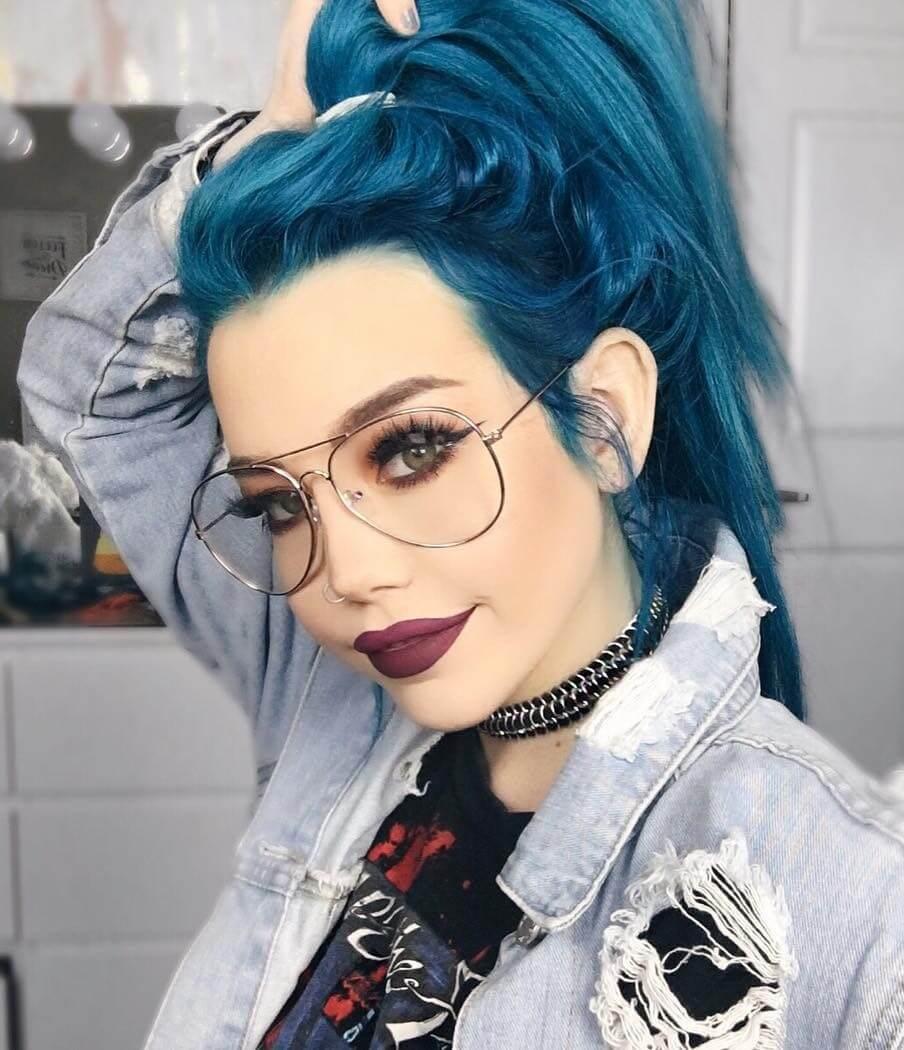 Aquamarine hair dye by hailiebarber