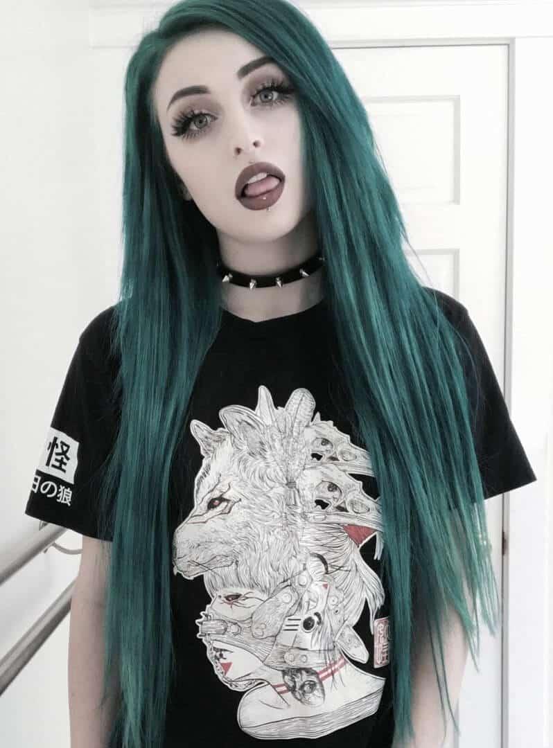 Phantom Green, Aquamarine and Transylvania hair dye by j0uzai