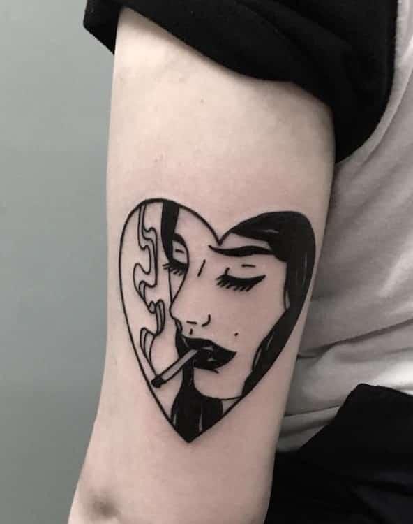 Blackwork Tattoo Designs: 33 Bold Illustrations Blackwork Tattoos