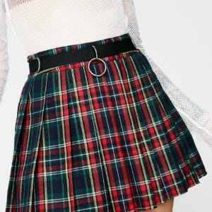 Current Mood - Crimson Dress Code Plaid Skirt