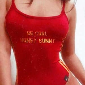 """Be Cool Honey Bunny"" Printed Bodysuit"