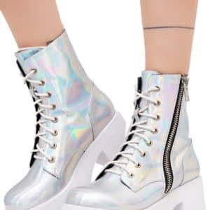 Current Mood - Chiller Holographic Platform Boots