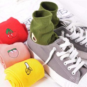 Fruits Embroidered Socks