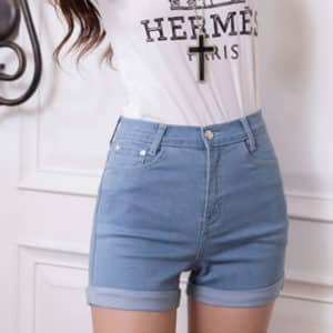 High Waist Denim Shorts 1