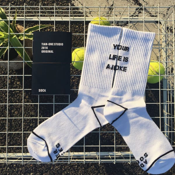 Your Life is a Joke Socks 1