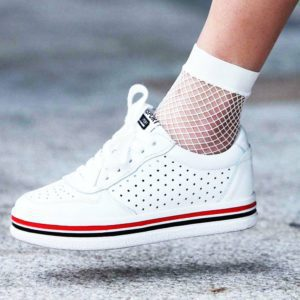 White Mesh Fishnet Ankle Socks 2